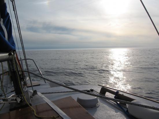 Coucher de Soleil dans la baie des Sables